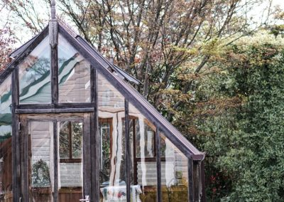 Black and Gray Wooden House Frame